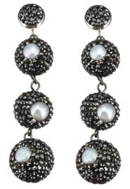 Zoetwater parel oorbellen Bright Pearl Balls