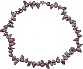 Zoetwater parelketting Pearl Blister Taupe