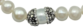 Zoetwater parel armband Bling Rice Pearl