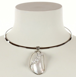 Zoetwater parelketting Shell Pearl Grape