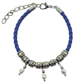 Zoetwater parel armband Maïsha Blue