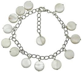 Parelmoeren armband Shell Round White