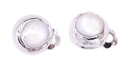 Zoetwater parel clips oorbellen One Silver Clip Pearl