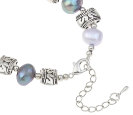 Zoetwater parel armband Decorative Pearl Antique Silver