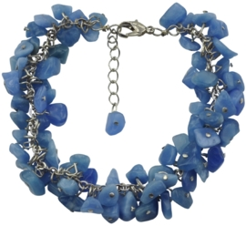 Edelstenen armband Blue Sea