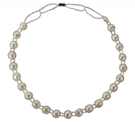 Zoetwater parelketting Pearl O