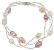 Zoetwater parel armband Twine Pearl Soft Colors 2