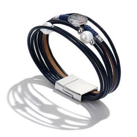 Zoetwater parel armband met abaloon Boca