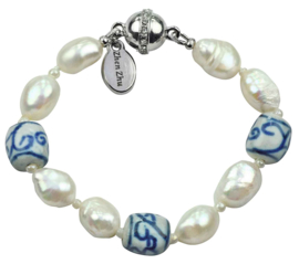 Zoetwater parel armband Hollands Glorie Spiral White