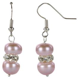 Zoetwater parel oorbellen Bling Pearl Purple