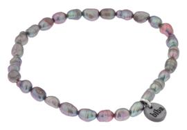 Zoetwater parel armband Biba Grey Rice Pearl