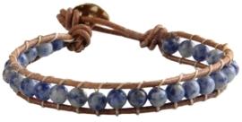 Edelstenen armband Wrap Blue Spot
