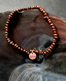 Zoetwater parel armband Biba Brown Nugget Pearl