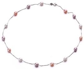 Zoetwater parelketting Lacey Soft Colors