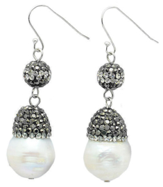 Zoetwater parel oorbellen Bright Pearl Dangling Nut