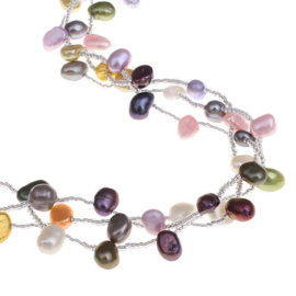 Zoetwater parelketting Long Decorative Pearl
