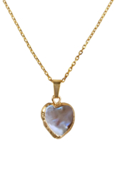 Zoetwater parelketting Golden Heart Brown Pearl