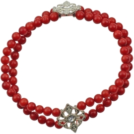 Koralen armband Coral Red