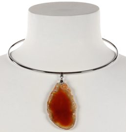 Edelstenen ketting Nature Red Agate