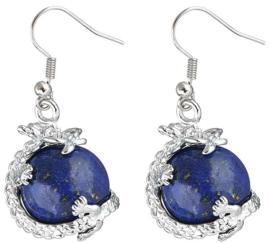 Edelstenen oorbellen Lapis Lazuli Dragon