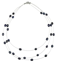 Zoetwater parelketting Jill Black