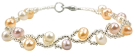 Zoetwater parel armband Twist Pearl Soft Colors