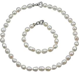 Zoetwaterparel set Big Round Pearl