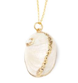 Parelmoeren schelpen ketting White Shell Gold