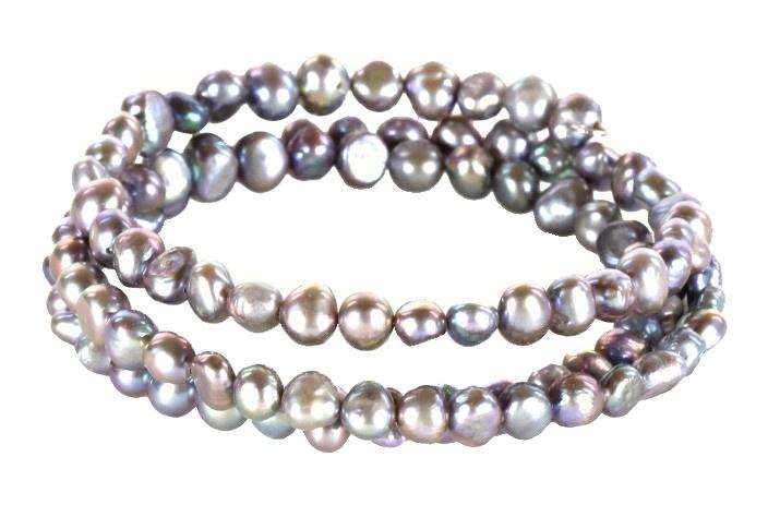 Zoetwater parel armband Zen Grey