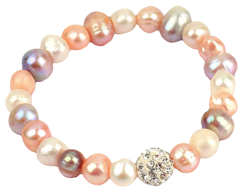 Zoetwater parel armband Maxima Soft Colors
