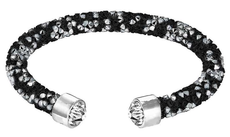 Kristallen armband Stardust Black & Silver