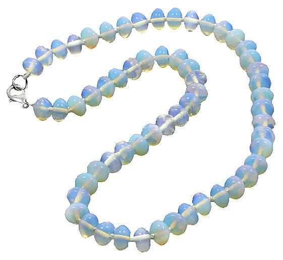 Edelstenen ketting Sea Opal Rondelle