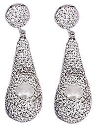 Zoetwater parel oorbellen Bright Pearl Long Drop Silver