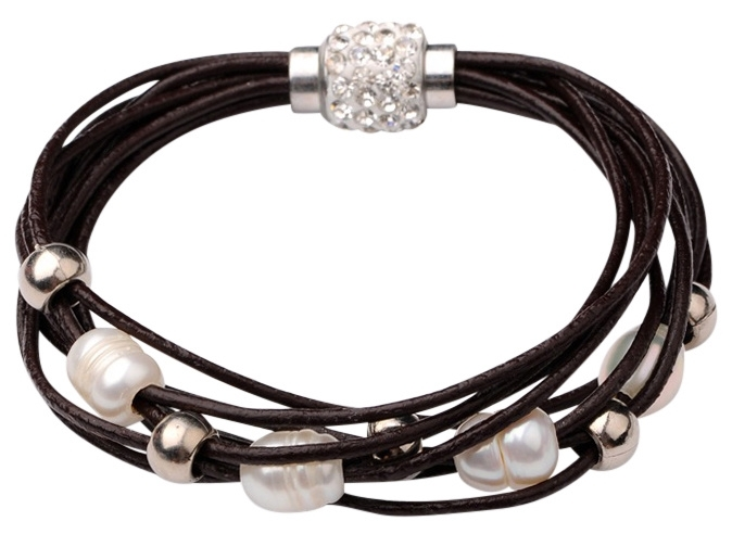 Zoetwater parel armband Bling Pearl Brown