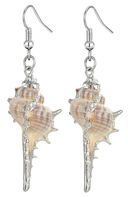 Schelpen oorbellen Shell Cabrit Silver