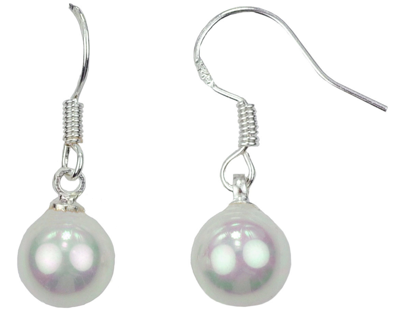 Mother of pearl parel oorbellen Shiny White