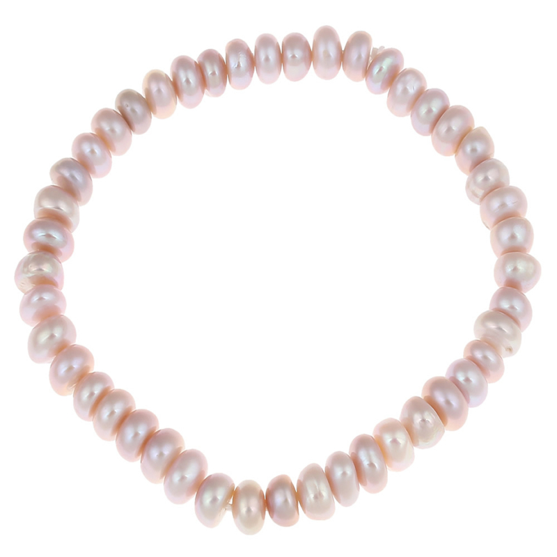 Zoetwater parel armband Little Button Pearl Pink