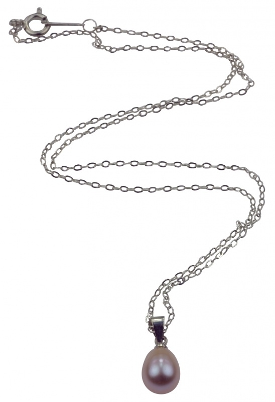 Zoetwater parelketting Single Pearl Purple