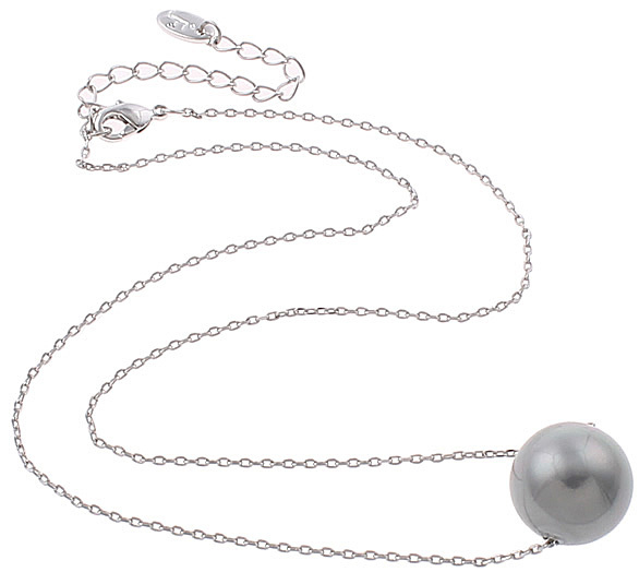 Mother of pearl parel ketting Shiny Ball Grey