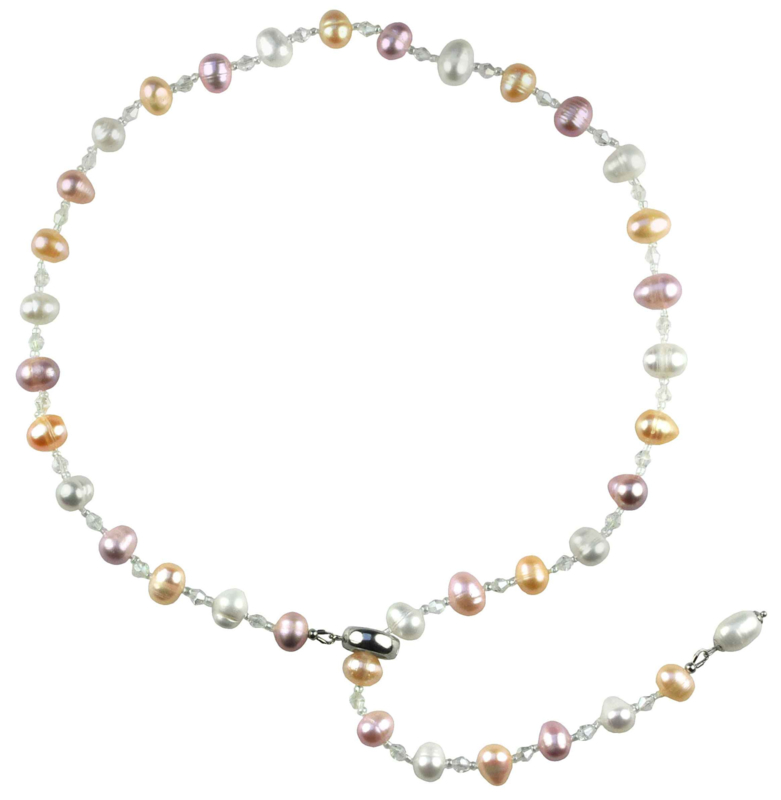 Zoetwater parelketting Adjustable Pastel Colour Pearl