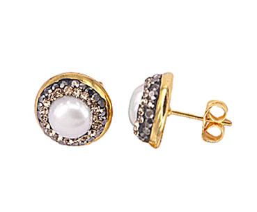 Zoetwater parel oorbellen Bright Little Pearl Gold