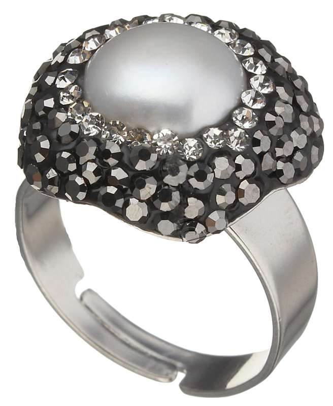 Zoetwater parel ring Bright Pearl Big