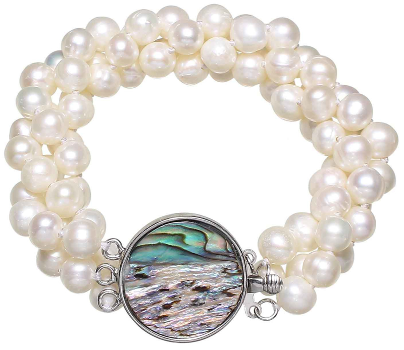 Zoetwater parel armband Pearl Abalone