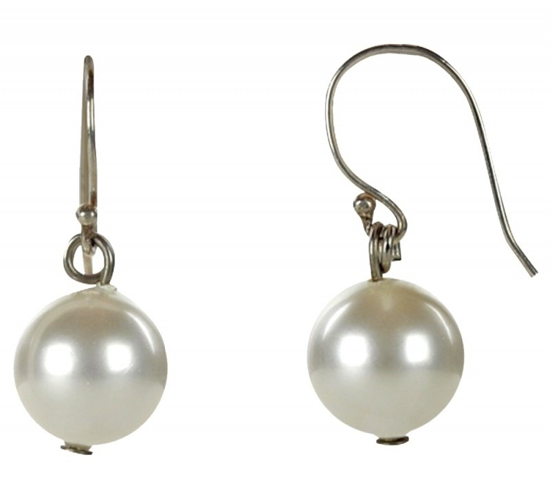 Mother of pearl parel oorbellen Bold White