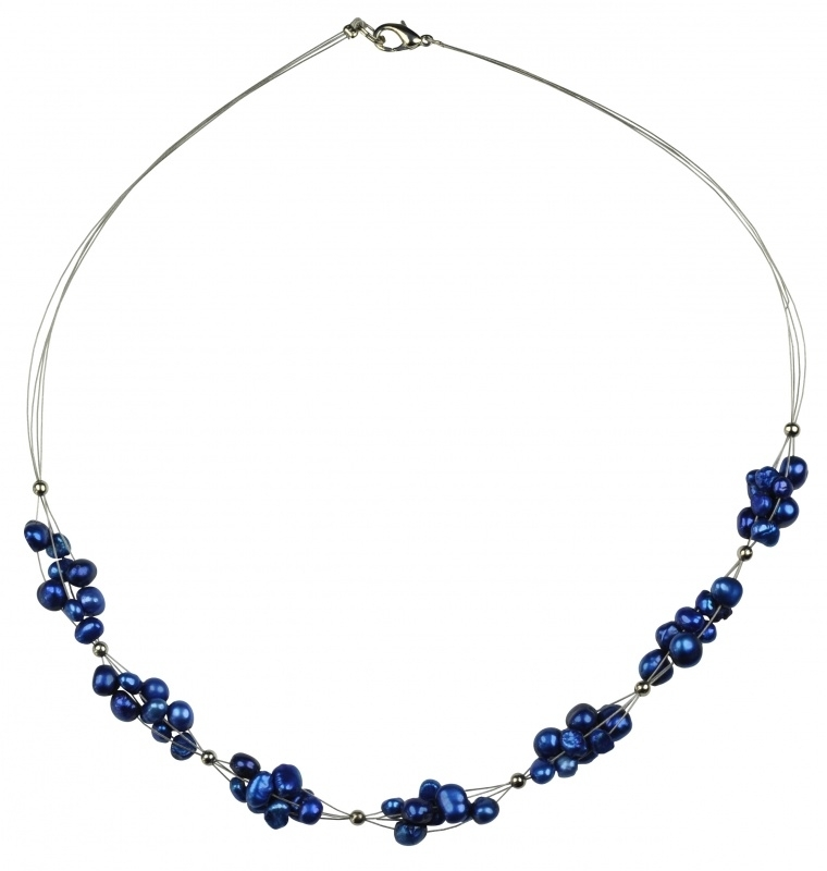 Zoetwater parelketting Bluette