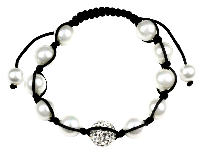 Mother of pearl parel armband Samballa Sparkling White