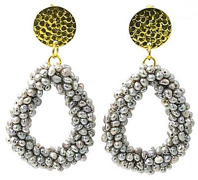 Zoetwater parel oorbellen Million Grey Pearls