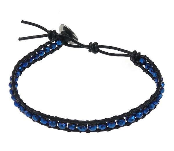 Kristallen armband Wrap Blue Crystal