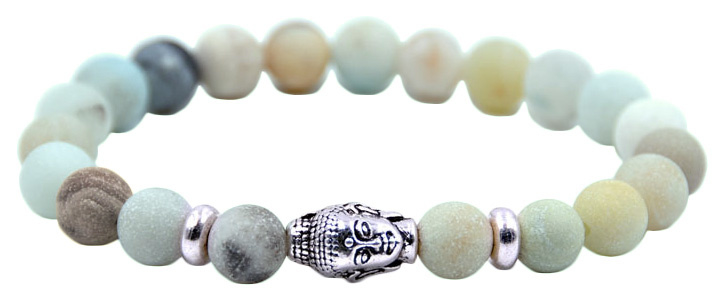 Edelstenen armband Buddha Frozen Amazonite