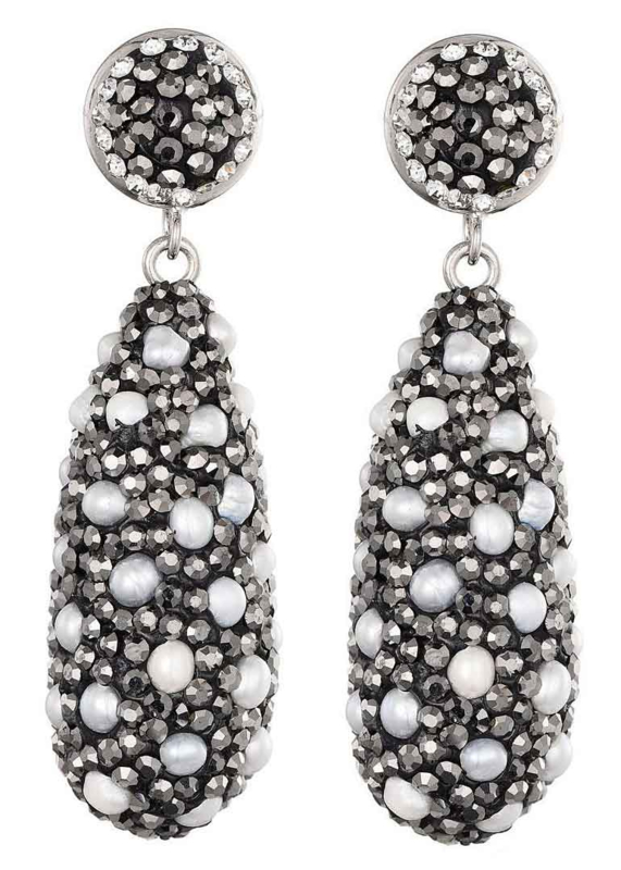 Zoetwater parel oorbellen Bright Long Pearl Dots